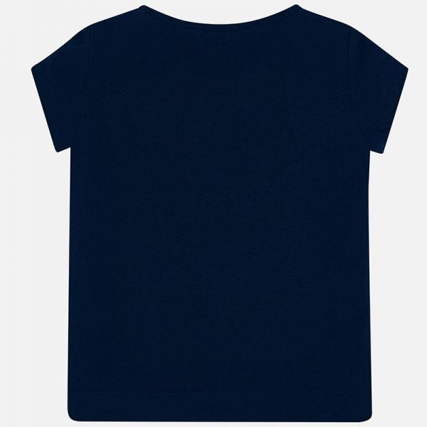 Girls Tshirt Back View Navy