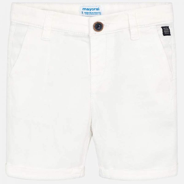 Mayoral Boys White Shorts Front