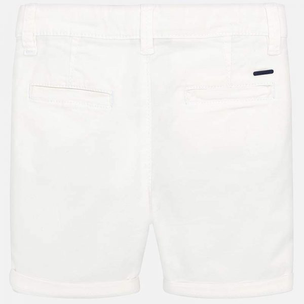 Mayoral Boys White Shorts Back