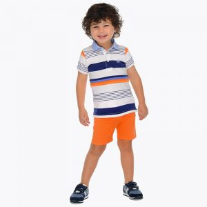 Mayoral Boys Orange Cotton Shorts