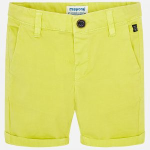 Mayoral Boys Yellow Shorts Front