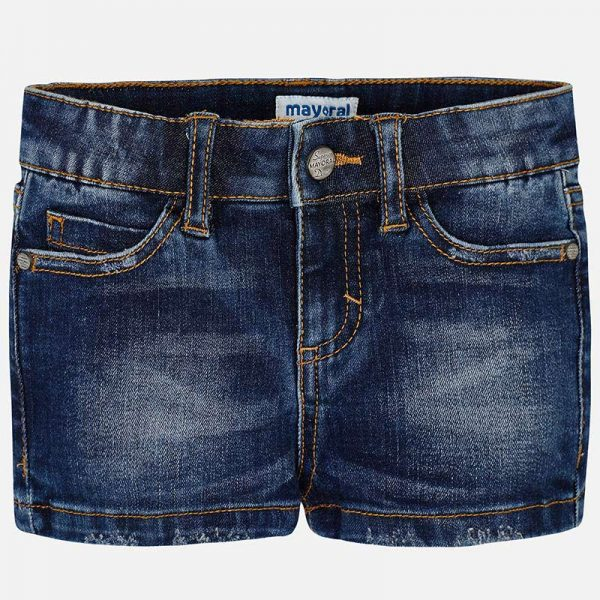 Mayoral Girls Denim Shorts Front