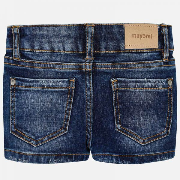 Mayoral Girls Denim Shorts Back