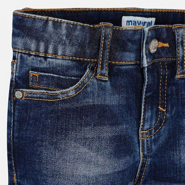 Mayoral Girls Denim Shorts Closeup