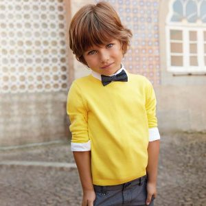 Mayoral Boys Yellow Knitted Sweater