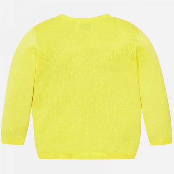 Mayoral Boys Yellow Knitted Sweater Back