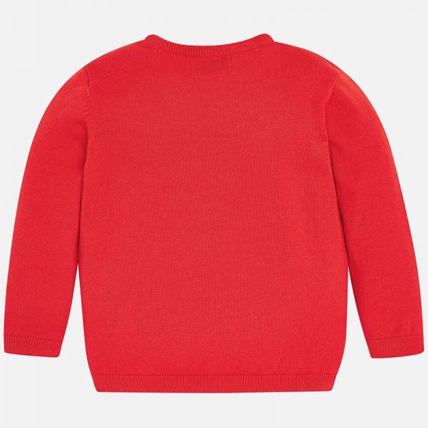 Mayoral Boys Red Knitted Sweater Back
