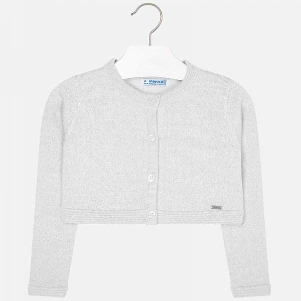Mayoral Girls Basic Knitted Cardigan Front
