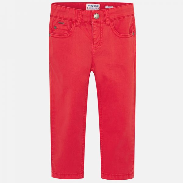 Mayoral Boys Slim Fit Pants Red Front