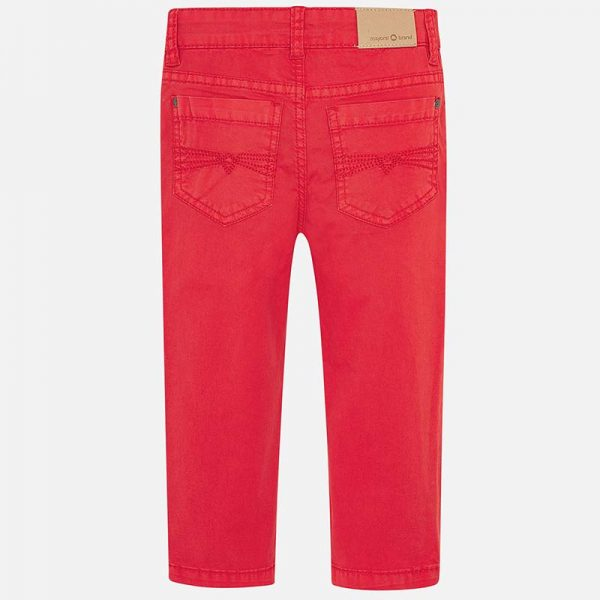 Mayoral Boys Slim Fit Pants Red Back