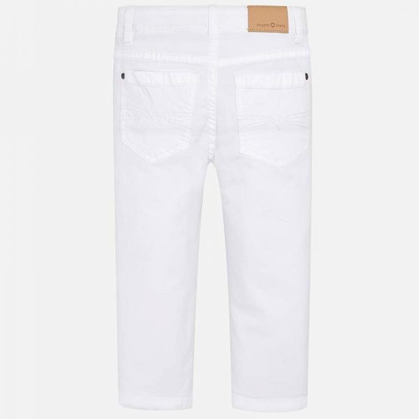 Mayoral Boys Slim Fit Pants White Back