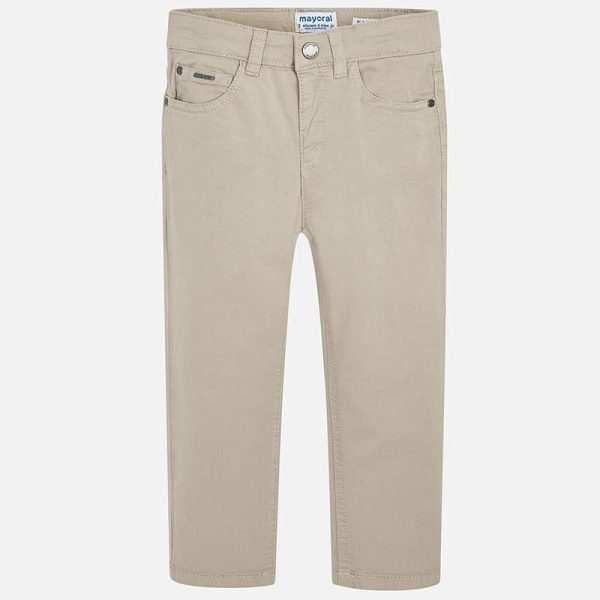 Mayoral Boys Slim Fit Pants Stone Front