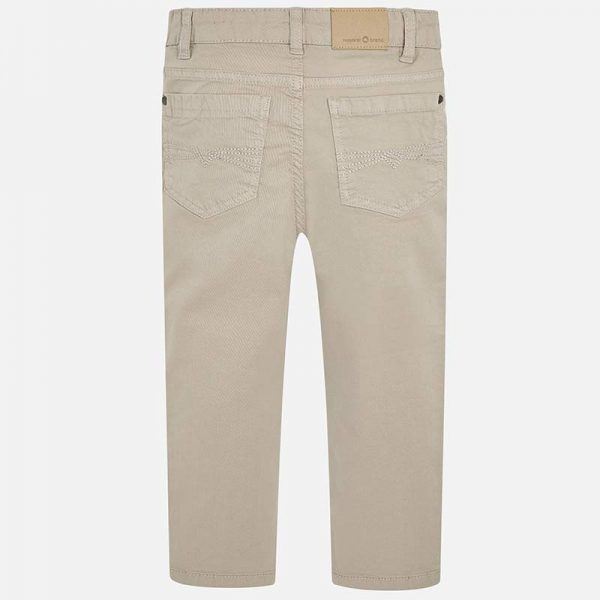 Mayoral Boys Slim Fit Pants Stone Back