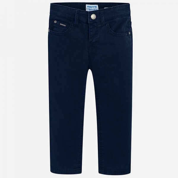 Mayoral Boys Slim Fit Pants Navy Front