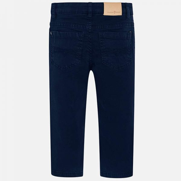 Mayoral Boys Slim Fit Pants Navy Back