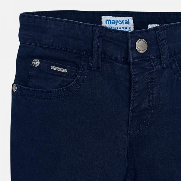 Mayoral Boys Slim Fit Pants Navy Closeup