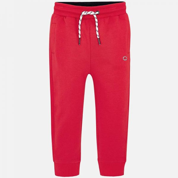 Mayoral Boys Basic Fleece Trousers Red Front