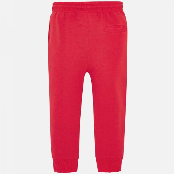 Mayoral Boys Basic Fleece Trousers Red Back