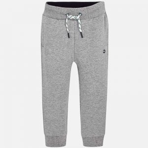 Mayoral Boys Basic Fleece Trousers Grey Front
