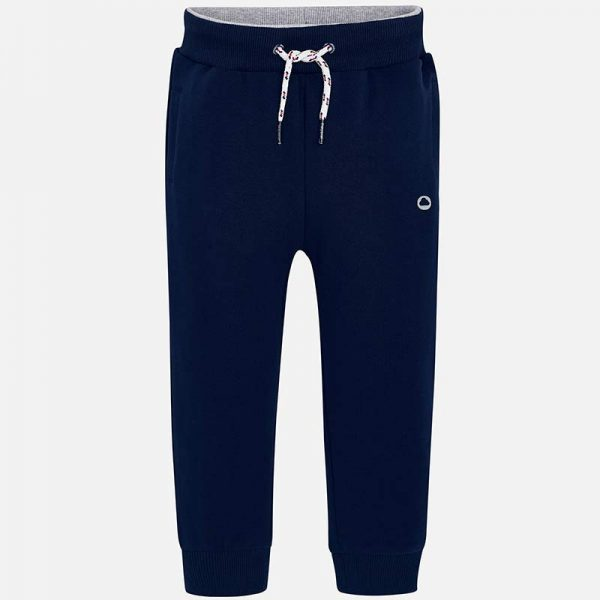 Mayoral Boys Basic Fleece Trousers Navy Front
