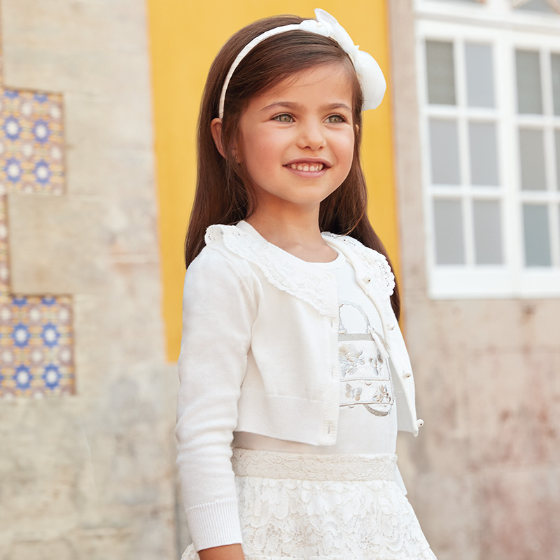 Mayoral Girls Cardigan With Lace