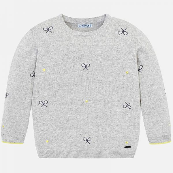 Mayoral Boys Tennis Knit sweater Front