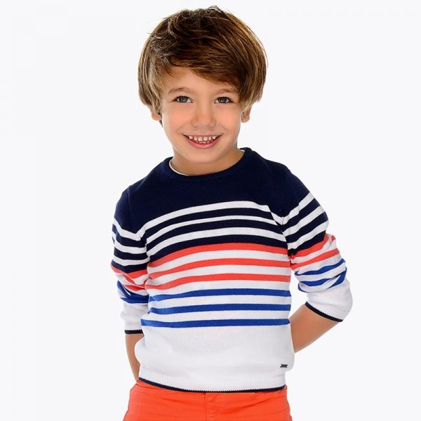 Mayoral Boys Tennis Knit sweater Striped