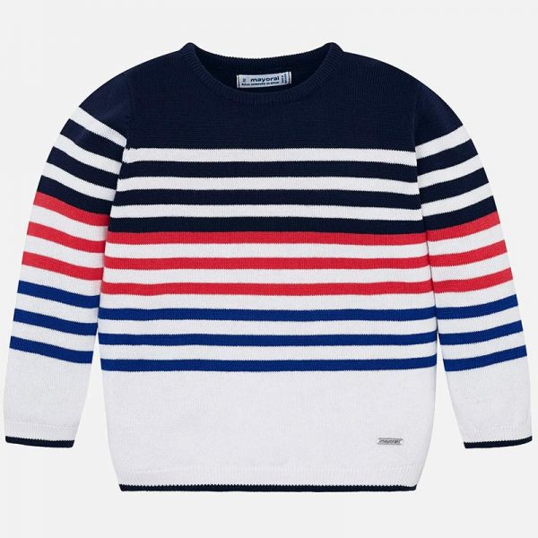 Mayoral Boys Tennis Knit sweater Striped Front
