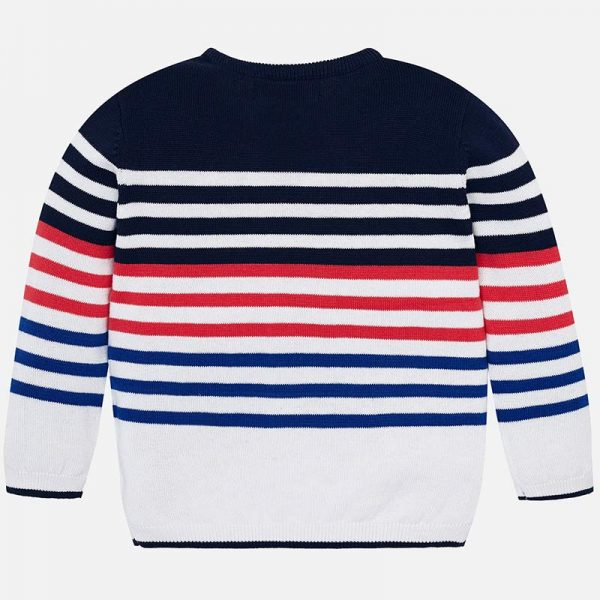 Mayoral Boys Tennis Knit sweater Striped Back