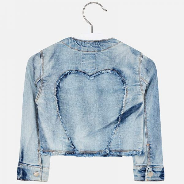 Mayoral Girls Denim Jacket Back