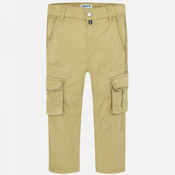 Mayoral Boys Cargo Pants Tan Front