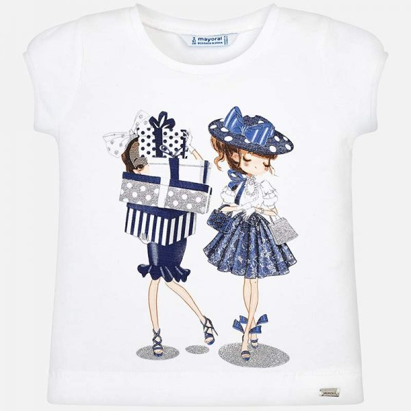 Mayoral Girls 2 Dolls T-shirt Front