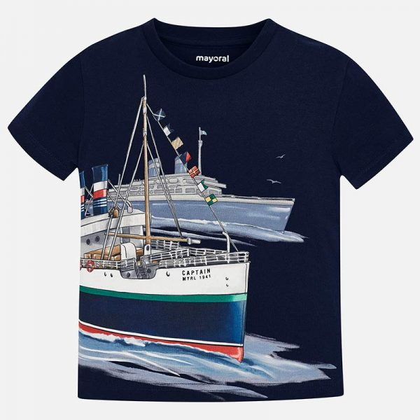 Mayoral Boys s/s Boat T-shirt Front