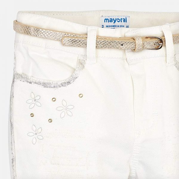 Mayoral Girls Detailed Girls Pants Closeup