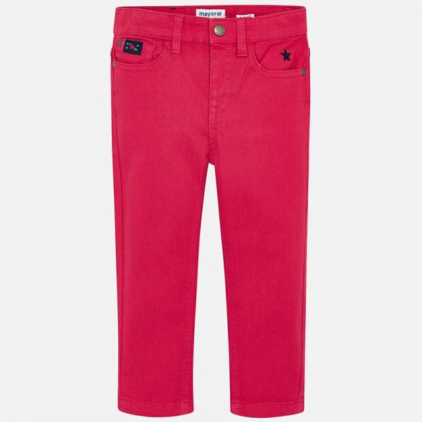 Mayoral Boys Slim Fit Red Pants Front