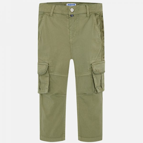 Mayoral Boys Chino Style Cargo Pants Front