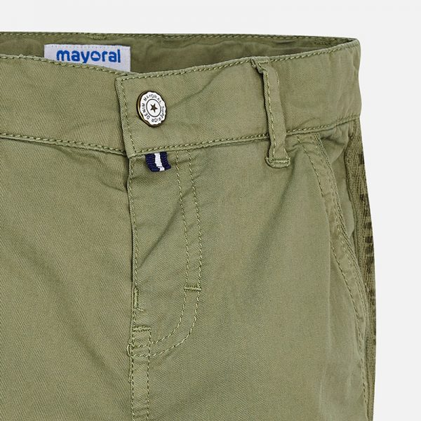 Mayoral Boys Chino Style Cargo Pants Closeup