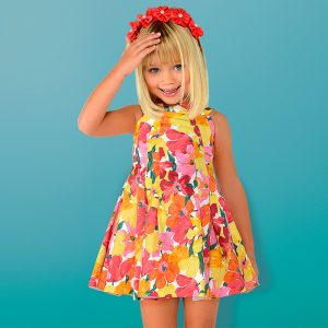 Mayoral Pleated Flower Dress