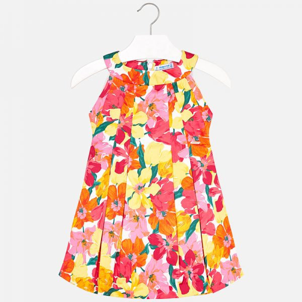 Mayoral Pleated Flower Dress Front