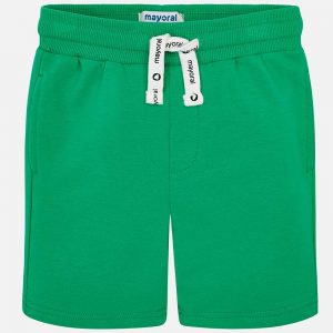 Mayoral Boys Basic Fleece Shorts Green Front