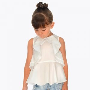 Girls-Sleeveless-Ruffle-Blouse