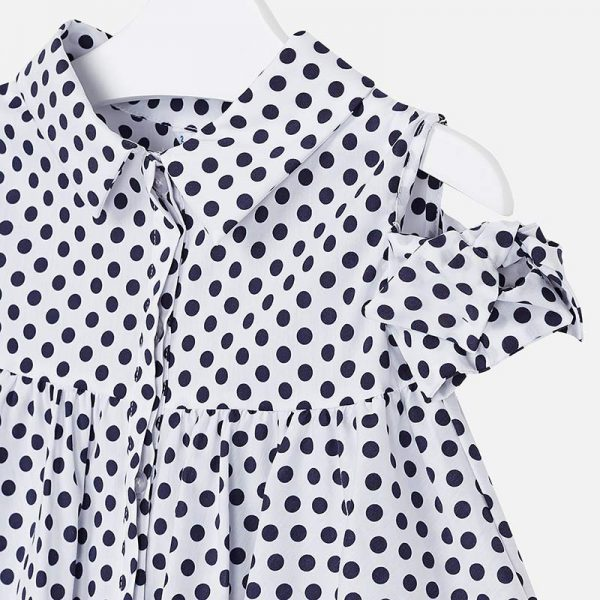 Mayoral Girls Polka Dot Blouse
