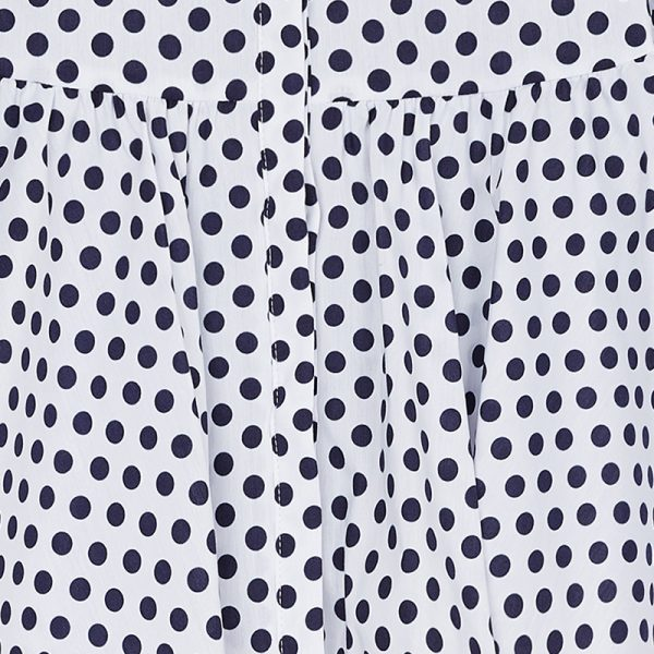 Mayoral Girls Polka Dot Blouse Close up
