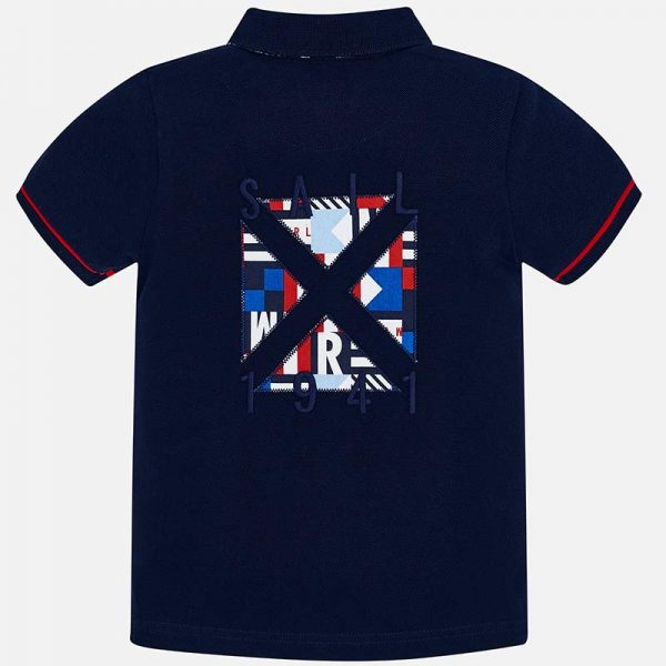 Mayoral Boys Polo short sleeved shirt navy back