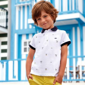 Mayoral Boys Tennis Polo Shirt White