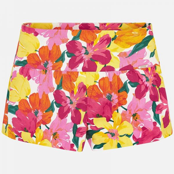Mayoral Girls Floral Printed Shorts Front