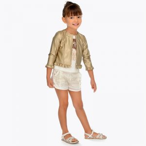 Mayoral Girls Lace Shorts
