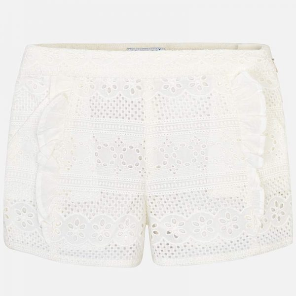 Mayoral Girls Lace Shorts Front