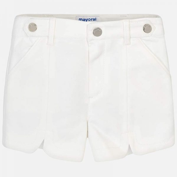 Mayoral Girls Satin Shorts White Front