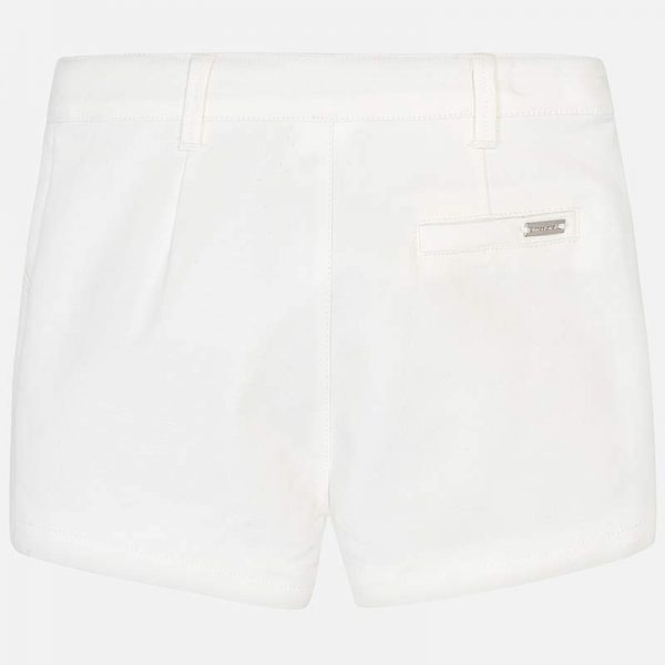 Mayoral Girls Satin Shorts White Back